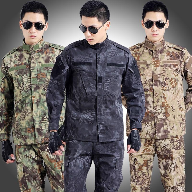 Tactical Military Uniform Army Militar Men's Clothing CS Combat Uniform Camouflage Hunting Clothes Jacket+pants Sets new army military uniform tactical suit equipment desert camouflage combat airsoft cs hunting uniform clothing set jacket pants
