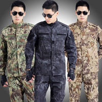 Tactical Military Uniform Army Militar Men's Clothing CS Combat Uniform Camouflage Hunting Clothes Jacket+pants Sets