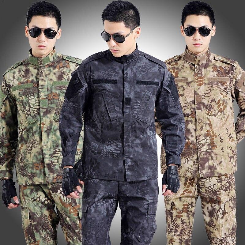 Tactique militaire uniforme armée militaire vêtements pour hommes CS Combat uniforme Camouflage chasse vêtements veste + pantalons ensembles