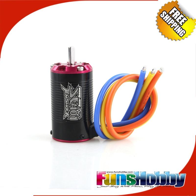 Tenshock 1 10 Short Course 4Pole Sensorless RC Cars Micro Brushless Motor SC401V2 3400KV 3800KV 4400KV
