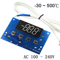 0 500 Degree Temperature Controller AC 100V 240V Power Window Size 38 20mm