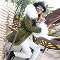 Ladies Winter Parka Jacket for Women Female Coat Long Outerwear Warm Fur Parka Real Large Raccoon Dog Fur Collar Hooded Parka