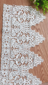 Off Wihte Extra Wide Venise Watersoluble Embroidered Fabric Lace Trim DIY Sewing Supplies Craft For Costume Decoration TEN YARDS
