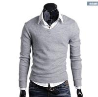 Cashmere Blend Solid Pullovers Spring Autumn Men S New Clave Camisa Sweater Slim Men V Neck