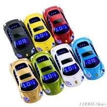 Newmind-teléfono móvil con tapa de cuerpo de Metal, modelo de coche, linterna, Sim Dual, Mini para móvil, Mp3, Mp4, Radio FM, grabadora