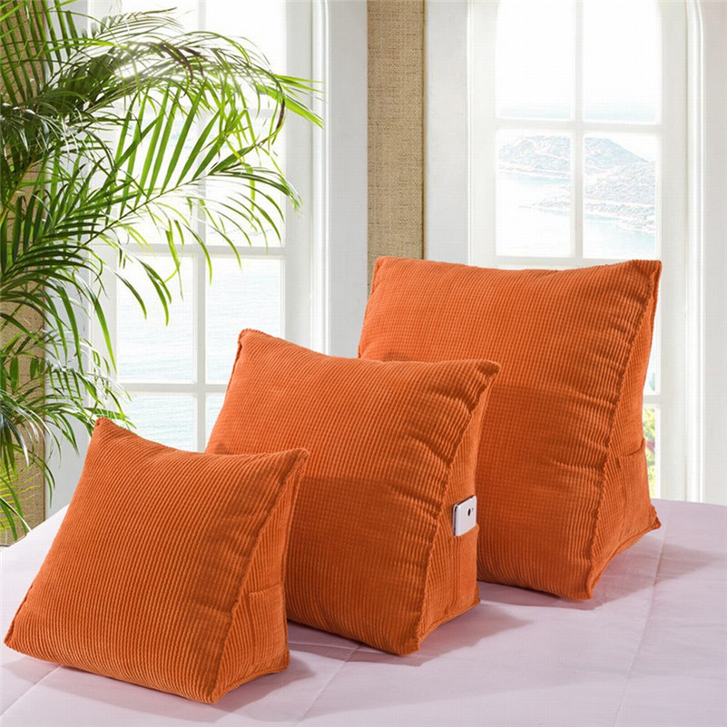 Triangular Backrest Cushions For Bed Thick Corduroy Pillow