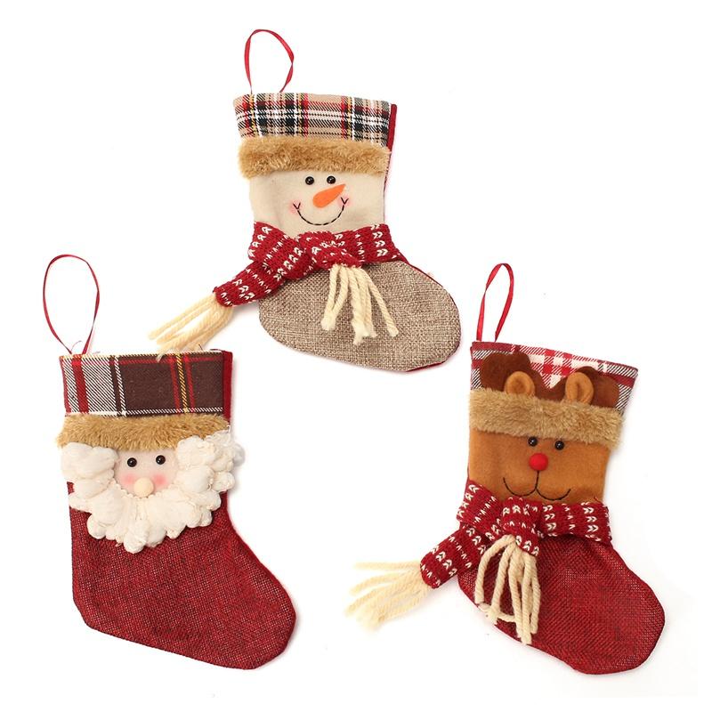 nuevo unids encantador para rboles de navidad mueco de nieve de navidad calcetines de