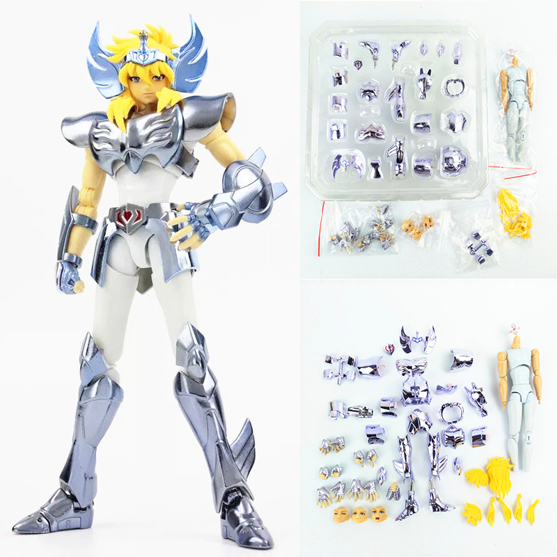 цена на Anime Action Figure EX Saint Seiya Myth Cloth Cygnus Hyoga V3 Metal Armor Collectible Model