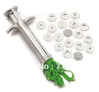 Sugarcraft Clay Gun with 19 Discs Tool Sugarcraft Gun Sculpting Sculpey Fimo Extruder K1007