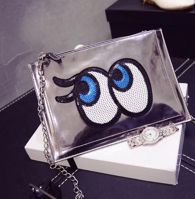 Cartoon Women Messenger Bags Big Eyes Bag Leather Handbags Ladies Clutch Bag Bolsa Feminina Bolsas Female Handbag