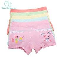 Zoe Saldana Girl's Underwear 2017 New 10Pcs/Lot Kids Cartoon Dog Pattern Printed Boxer Shorty Cotton Soft Baby Girl Underpants