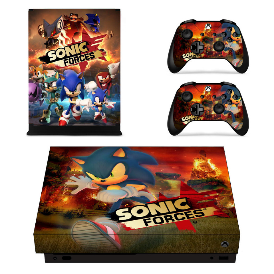 Game Sonic Forces Skin Sticker Decal For Microsoft Xbox One X Console And 2 Controllers For Xbox One X Skin Sticker Decal Skin Sticker Decal Stickerdecal Sticker Skins Aliexpress