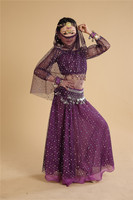 6 pcs Children Belly Dance Costume Girls Indian Dancing Sets Child Performance Clothing Dress Vestido Belly Dancing Outfits 89