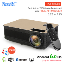 TD86 Projector Newpal 4000Lumens Projector Full HD 1280*800p Home Theater (Android6.0 WIFI Optional) with VGA DLNA Miracast