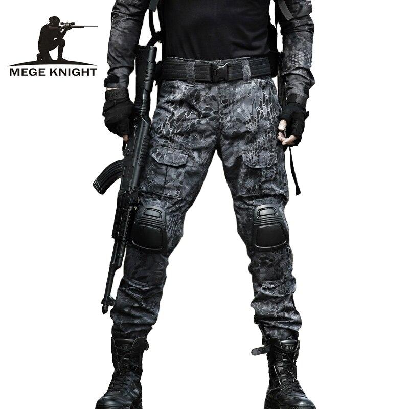 MEGE 12 הסוואה צבע טקטי בגדי צבא של אחיד לחימה, צבאי מכנסיים עם מגיני ברכיים, Airsoft פיינטבול בגדים
