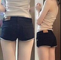 2018 low waist short denim shorts ladies summer new tight nightclub shorts