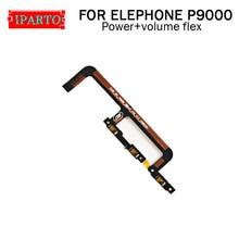 Elephone p9000 botão lateral cabo flexível 100% original power + botão de volume cabo flex peças de reparo para elephone p9000