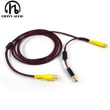 High end DAC (power \ signal) oddzielny wzmacniacz kabel usb USB A do USB B wtyczka DC 5.5*2.1mm do USB B niezależny zasilacz