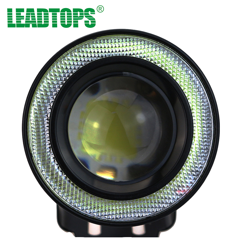 Hotest 2pcs/lot Universal 3.5 inch 90mm 30W Led COB Fog Lamp Car Auto Fog Angel eyes light with Lens DC12V-24V  any car can use
