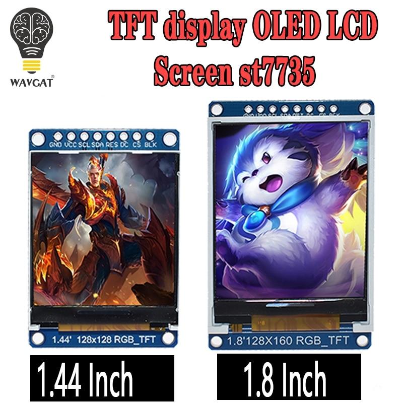 3.3 V 1.44 1.8 pouces série 128*128 128*160 65 K SPI couleur TFT IPS LCD Module d'affichage panneau remplacer OLED ST7735