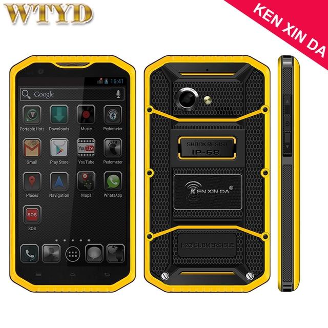 4 Г КЕН XIN ДА Проверки W8 Смартфон ROM 16 ГБ + RAM 2 ГБ IP68 Водонепроницаемый Противоударный Пылезащитный 5.5 ''Andriod 5.1 MTK6753 Octa Ядро