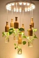 The Creative Art Pendant Diy Green Plants Led Pendent Light Modern Minimalist Staircase Restaurant Meals Chandeliers