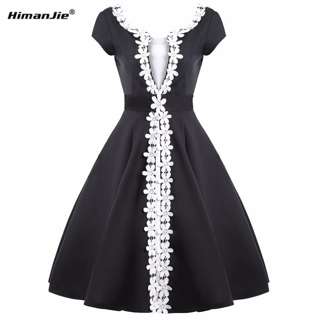 HimanJie Women Elegant Ruched Sexy V Back Zipper Vintage Casual Wear to  Work Office Business Party