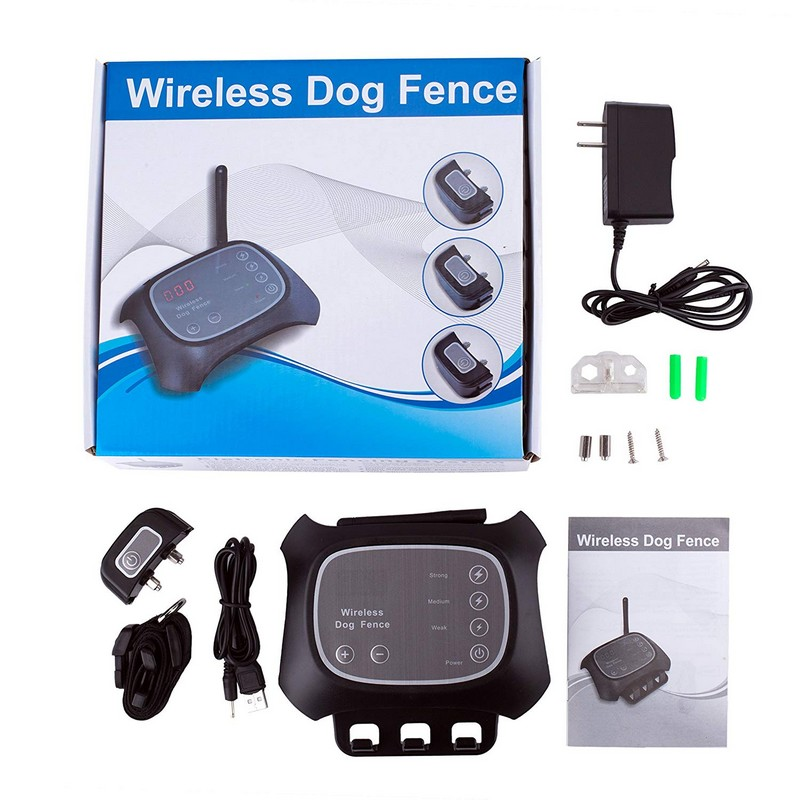 Wireless Dog Fence Effective Rechargeable Adjustable Water Resistance Radio Frequency Fence Pet Dog Training Collar For 1 dog dog care training collar