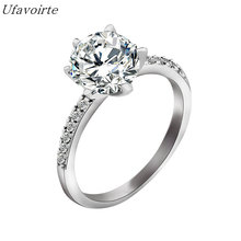 Ufavoirte Fashion Hot Sell Silver Plated New Shiny Zircon Female Finger Rings Wedding Jewellery Wholesale