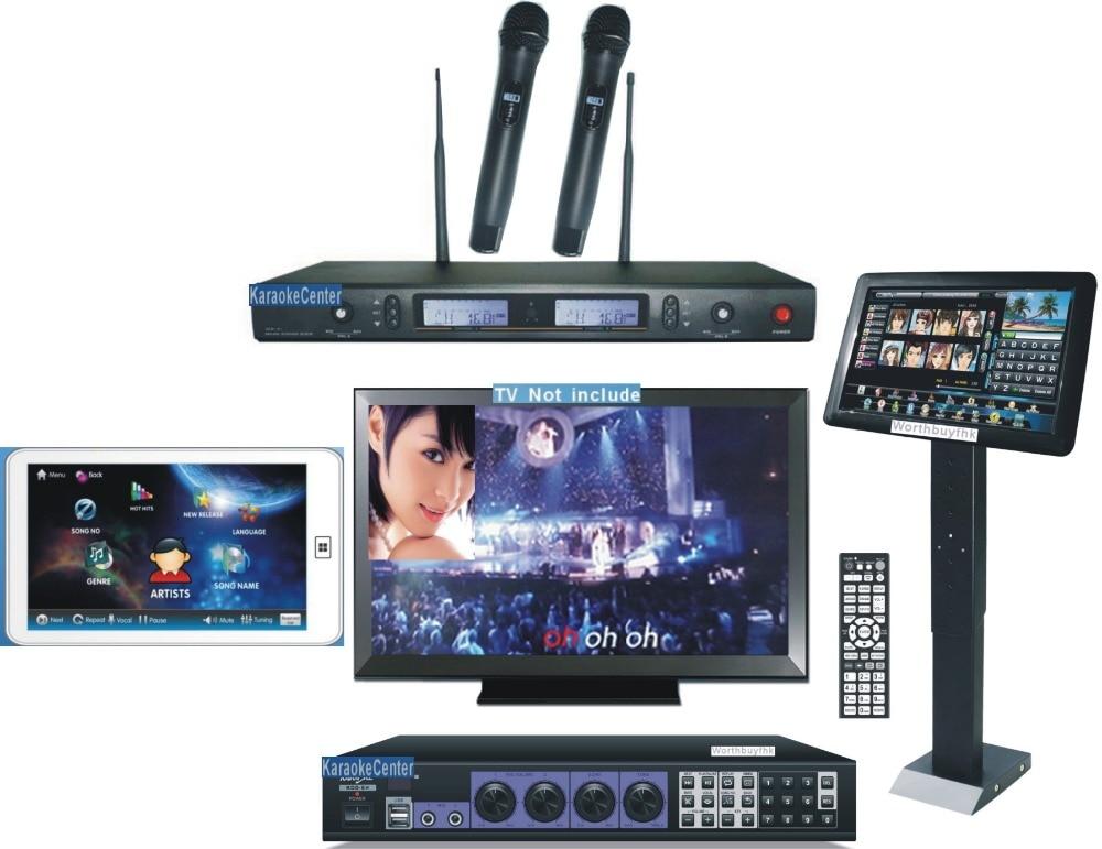 Karaoke Jukebox HDMI + Wireless Touch Pad KTV System + 19