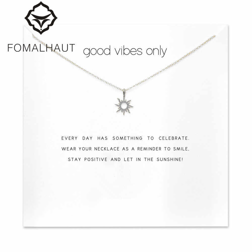 forever summer radiant sun necklace Pendant necklace Clavicle Chain Statement Necklace Women FOMALHAUT Jewelry F-9