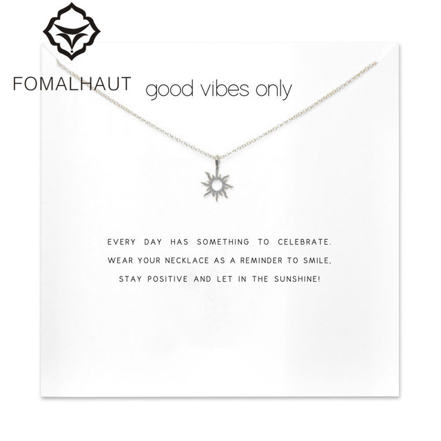 forever summer radiant sun necklace Pendant necklace Clavicle Chain Statement Ne