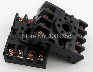 PF083A DIN prise de relais de montage sur Rail 8 broches rondes socle de prise de relais pour DH48S ST3P AH3-3 MK2P JTX-2C