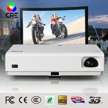 X3001 CRE 3000 lúmenes Android Mini Proyector Inteligente Activo 3D WIFI Portátil de vídeo de Cine En Casa Projektor Beamer 1080 p completo hd