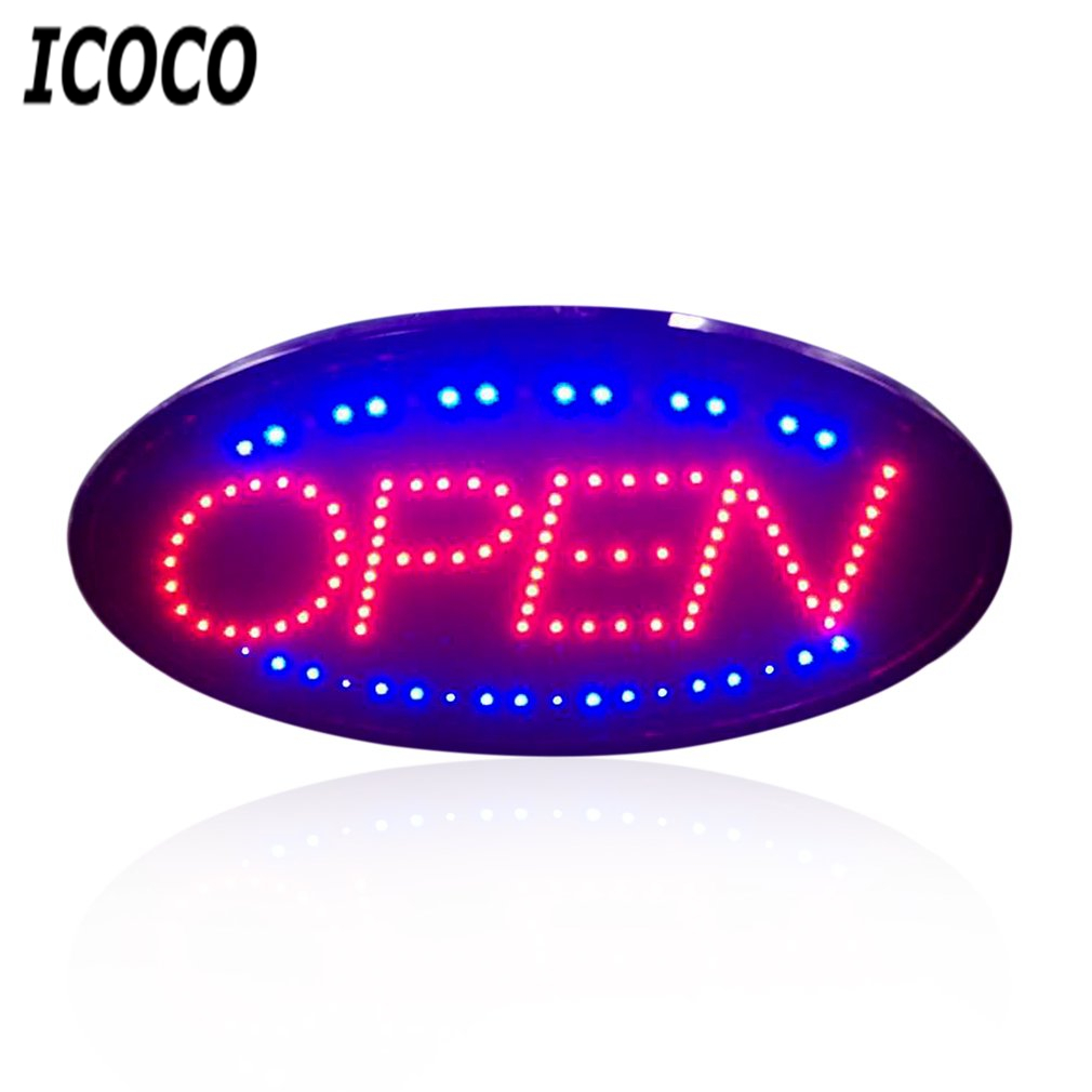 ICOCO LED Open Sign Advertising Light Bright Animated Motion Runing Neon Lamp for Shopping Mall Business Store Restaurant Sale informotion animated infographics
