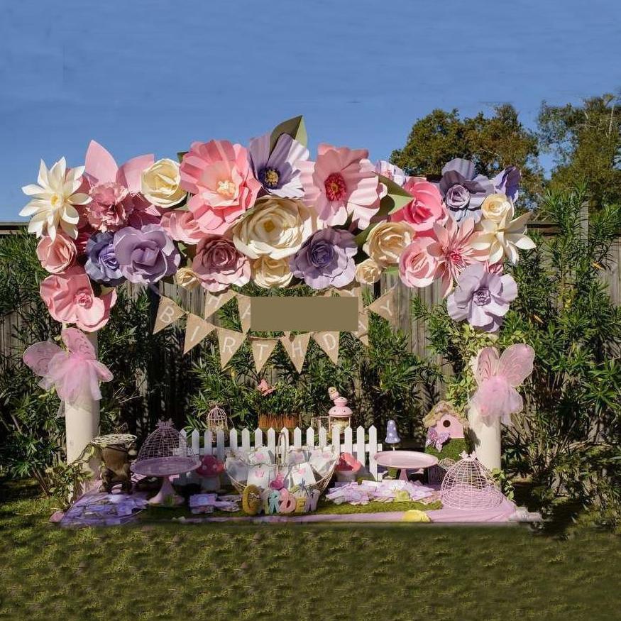 35pcs 20 50cm Giant Paper Flowers Wedding Backdrops