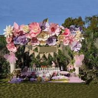 35PCS 20-50CM Giant Paper Flowers For Wedding Backdrops Full Wall Decor Photo booth Stage Showcase Windows Display 4.57m2