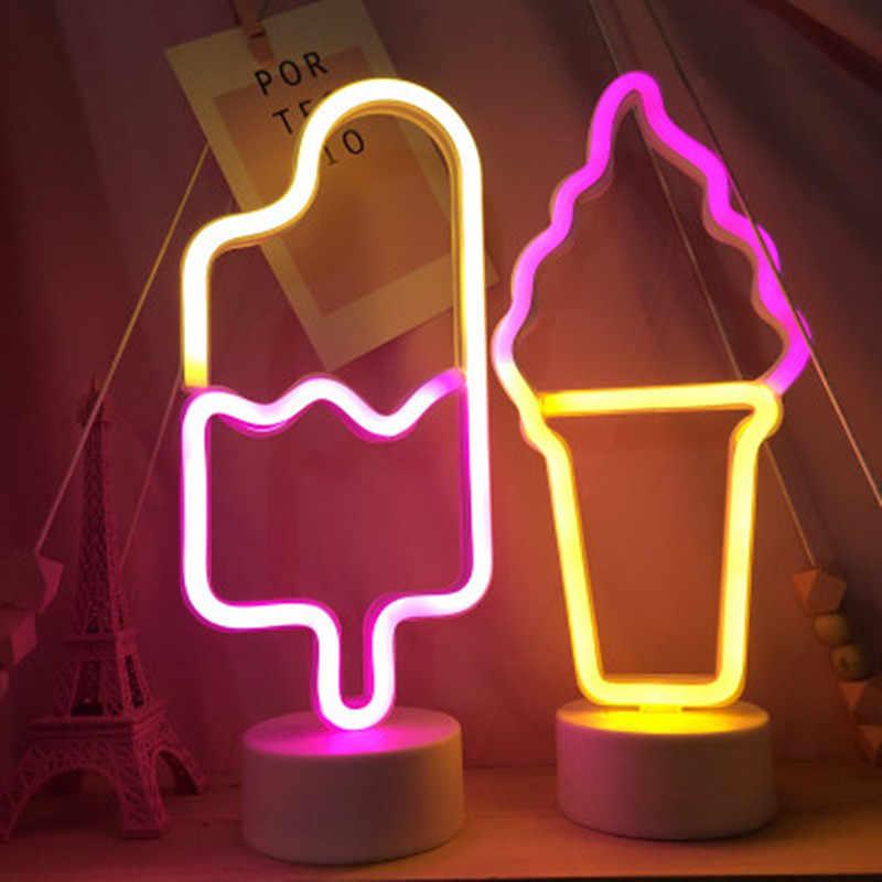 Светодиодный неоновый светильник, неоновая вывеска, лампа для мороженого, витрина для кондитерских изделий, ресторанный бар, праздничный декор, сексуальный знак