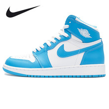 Nike Air Jordan 1 Retro High OG UNC Joe AJ1 Men's Basketball Shoes Sneakers, Original Outdoor Non-slip Shoes 555088 117