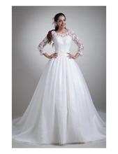 Hot 2015 Vestido de Novia Sencillo China-online-store Bridal Dresses Chapel Train Country Islamic Wedding Dress Muslim