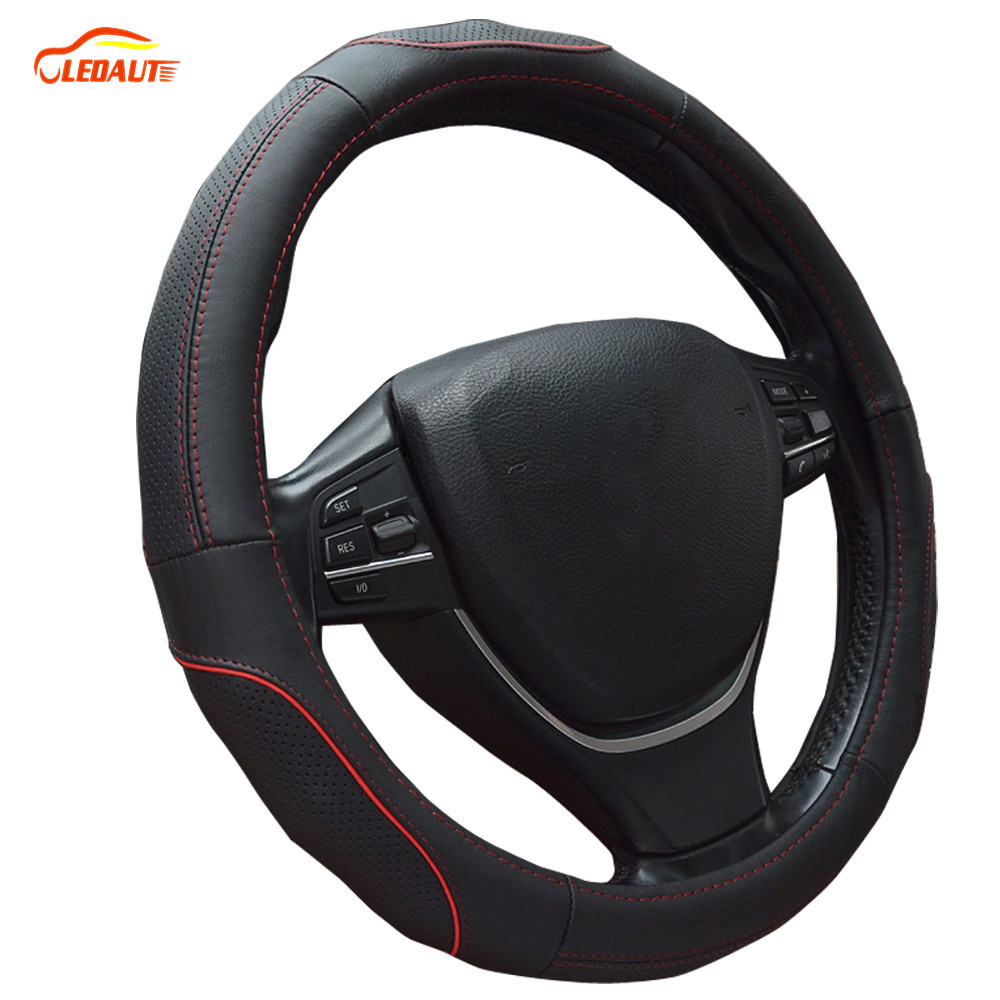 LEDAUT Leather Cover For Steering Wheel Fit For Allroad
