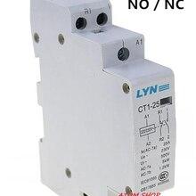 CT 2P 25A NO/NC AC220V домашний контактор переменного тока часто открытый CT1-25 25A LYN бренд