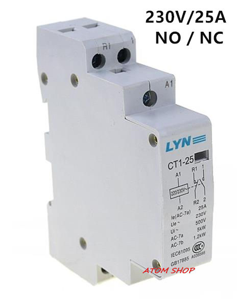 CT 2P 25A NO / NC AC220V Home AC contactor often open CT1-25 25A LYN brand ct 2p 25a no nc ac220v home ac contactor often open ct1 25 25a lyn brand