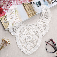 Children clothing white 100% cotton water soluble lace collar British style lovely flower graphics lace cotton fabric hot sales
