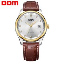 DOM механический человек часы лучший бренд класса люкс водонепроницаемой кожи мужские часы кристалл reloj hombre M-95L