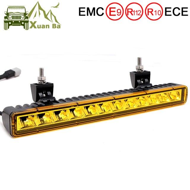 Barra de luz Led Ultra delgada de 14 pulgadas y 60W para todoterreno de 4x4 para coches Niva de 12V, Jeep Wrangler tj, ATV, SUV, camiones, Barra de trabajo Led, luces de conducción