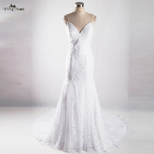 yiaibridal RSW922 Lace Cap Sleeves Backless Wedding Dresses