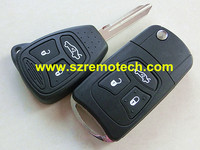 Modified 3 Big Buttons Remote Case Cover Fob Car Key Blank Modified Flip Key Shell For
