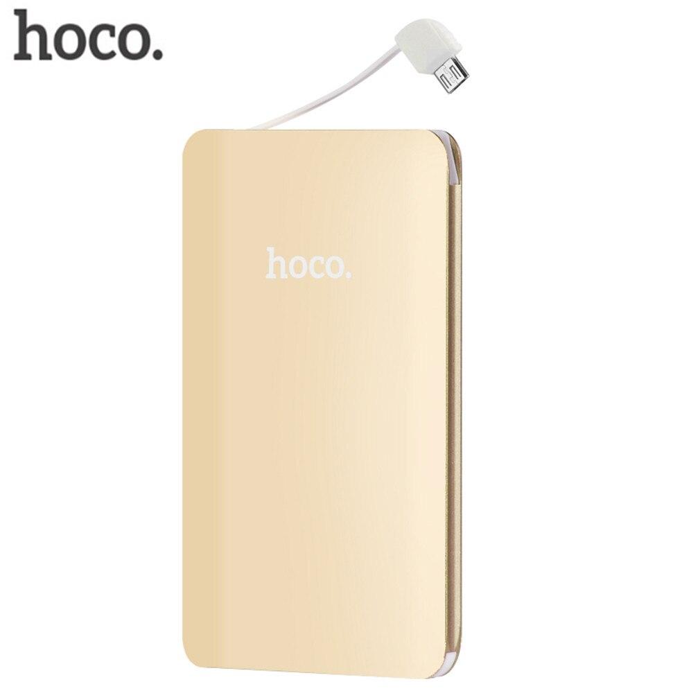 Hoco 5000 mah ultra delgado banco portable del cargador de batería externa unive