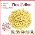 250g (250 mg x 1000 unids) 100% Orangic PRODUCTOS NUTRICIONALES de la Célula Agrietada Pared VERDE Spirulina tabletas de Polen de Pino Tabletas de té Anti-fatiga